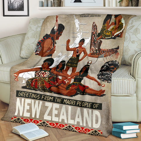 New Zealand Poster - Maori People Blanket 02 K5 - 1st New Zealand
