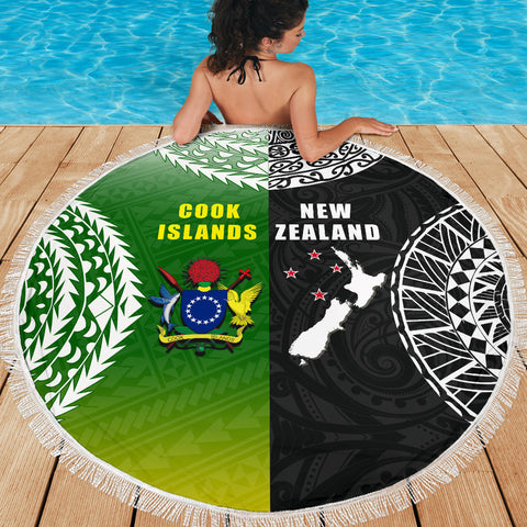 Image of New Zealand Cook Islands Beach Blanket K4 Front 2