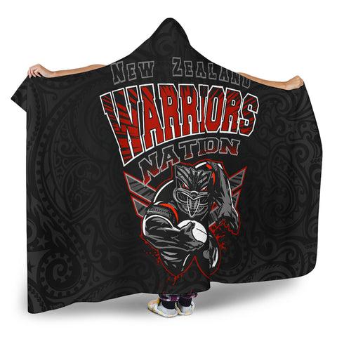 New Zealand Warriors Hooded Blanket Unique Style 2