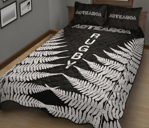 Quilt Bed Set Aotearoa Rugby Silver Fern K4 - 1st New Zealand