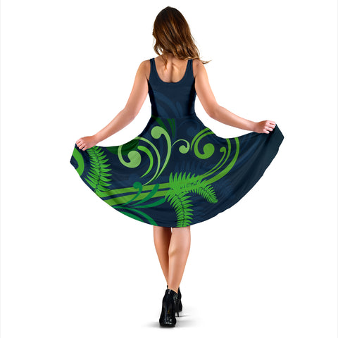 Silver Fern Women Midi Dress Green - 1st New Zealand