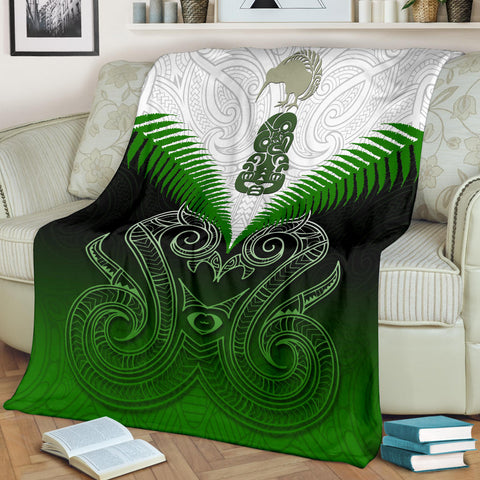 Maori Manaia Premium Blanket Green K4 - 1st New Zealand