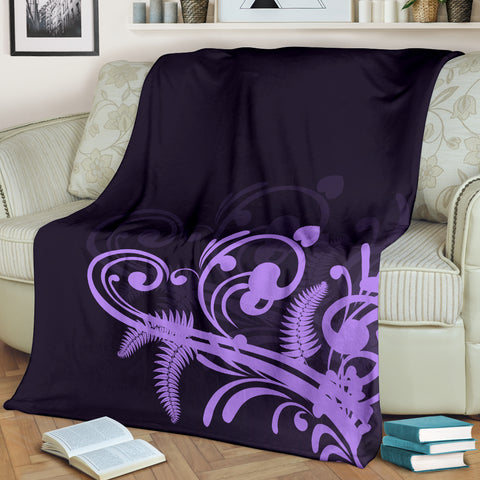 Silver Fern New Zealand Blanket - Purple L15 - 1st New Zealand
