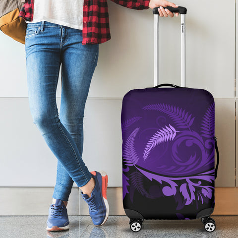 New Zealand Silver Fern™ Luggage Cover - Purple - 1st New Zealand