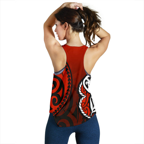 Lest We Forget - Maori Poppy Pullover Women's Racerback Tank Th00 - 1st New Zealand
