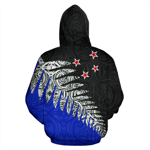 New Zealand Silver Fern™ Pullover Zip Up Hoodie K4 - 1st New Zealand