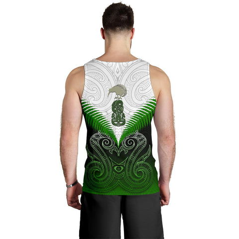 Maori Manaia Tank Tops For Men Green K4 Merchize - 1st New Zealand