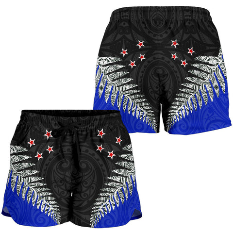 Image of Silver Fern Style Woman Shorts Blue K413 - 1st New Zealand