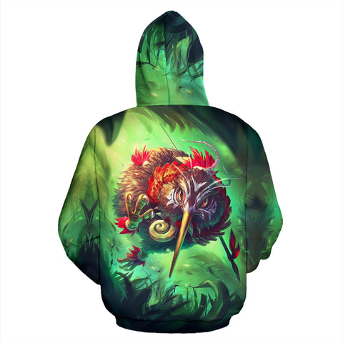 Image of New Zealand Kiwi Cool Hoodie back