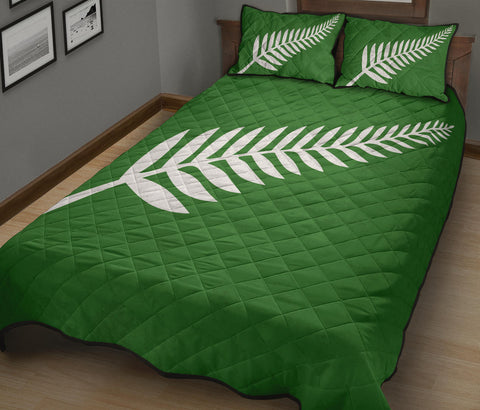 New Zealand Flag Silver Fern Green Quilt Bedding Sets K5 - 1st New Zealand