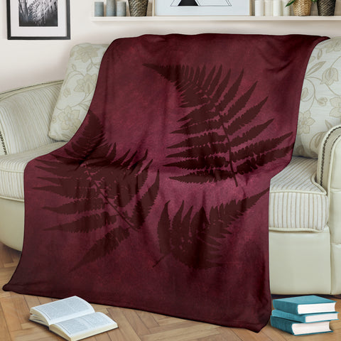 New Zealand Silver Fern Blanket - Dark Red A05 - 1st New Zealand