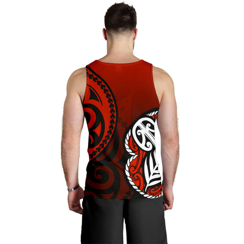 Image of Lest We Forget - Maori Poppy Pullover Tank Tops For Men Th00 - 1st New Zealand