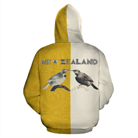 Image of Aotearoa Tui Bird Hongi Zip Up Hoodie back