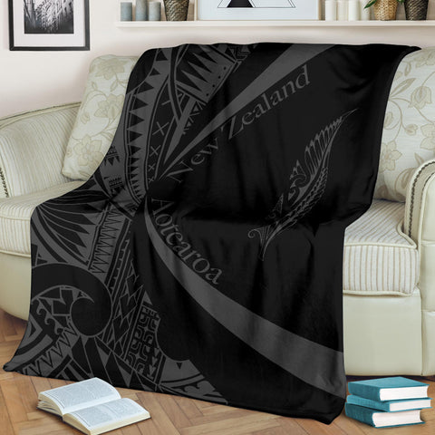 New Zealand Silver Fern Premium Blanket Maori Tattoo Circle Style J95 - 1st New Zealand