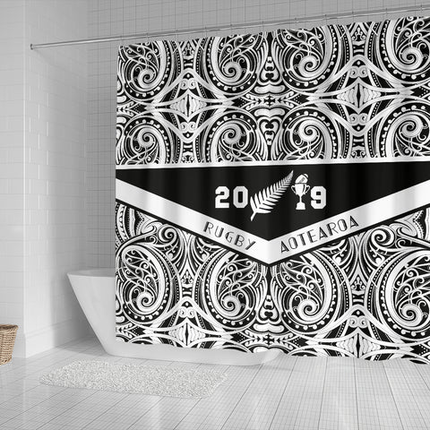 Image of Aotearoa Rugby Win 2019 Shower Curtain K40