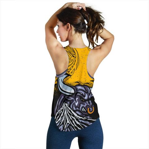 New Zealand Maori Women Racerback Tank Taranaki  Bull K4 - 1st New Zealand