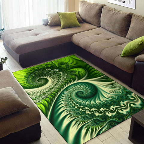 New Zealand Area Rug Koru Fern - Abstract Style K4 - 1st New Zealand