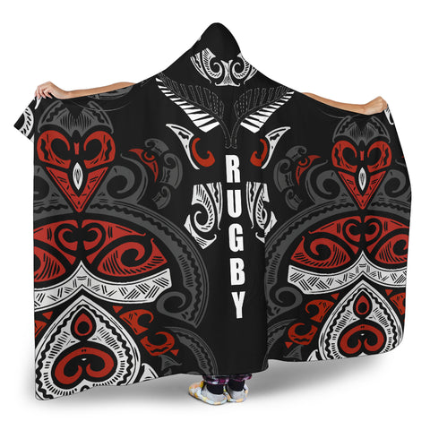 Image of Maori Hooded Blanket Rugby K9 - 1st New Zealand