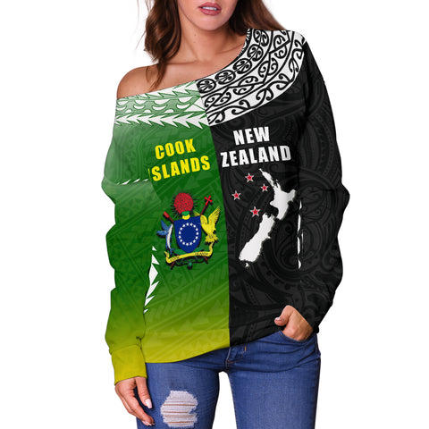 Image of New Zealand Cook Islands Off Shoulder Sweater K4 - 1st New Zealand