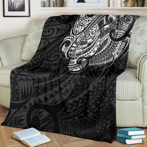 Maori Tattoo Style Premium Blanket - White Version A74 - 1st New Zealand