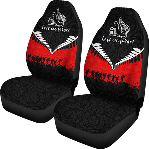 Anzac New Zeland Lest We Forget Silver Fern Car Seat Covers K4 - 1st New Zealand