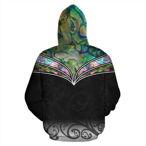 New Zealand Paua Shell Zip Up Hoodie K4 - 1st New Zealand