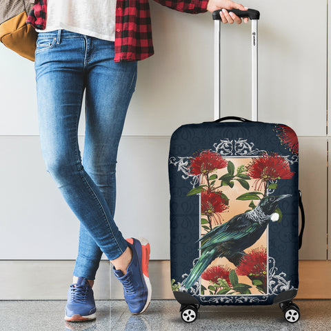 New Zealand Luggage Cover, Pohutukawa Tui Suitcase Covers K5 - 1st New Zealand