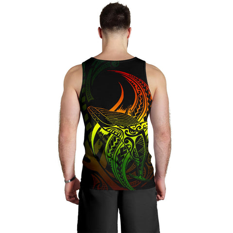 Maori Men Tank Top Humpback Whale Tattoo Rasta K4