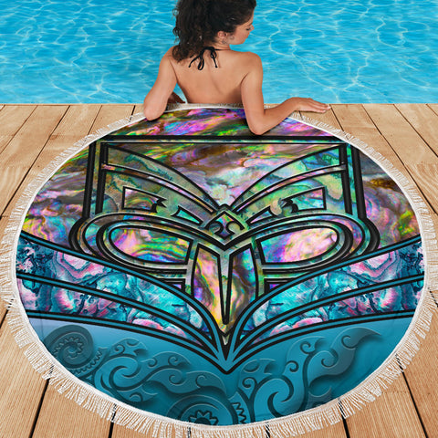 New Zealand Warriors Beach Blanket Paua Shell K4 Front 2