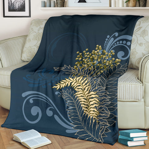 New Zealand Silver Fern Blanket - Navy K5 - 1st New Zealand