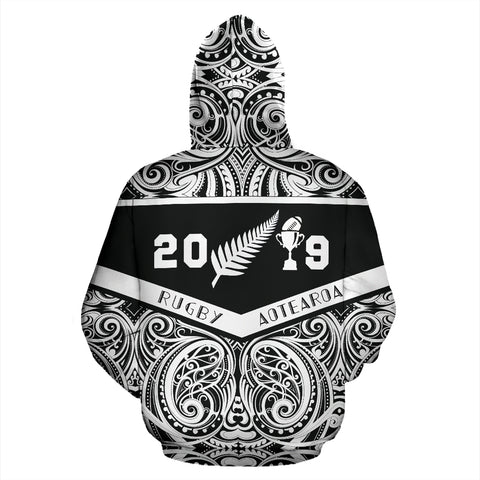 Image of Aotearoa Rugby Win 2019 Zip Up Hoodie K4 - 1st New Zealand