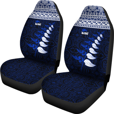 New Zealand Maori Silver Fern Car Seat Covers K47 - 1st New Zealand