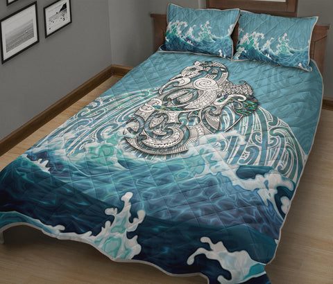 Maori Manaia The Blue Sea Quilt Bed Set K5 - 1st New Zealand