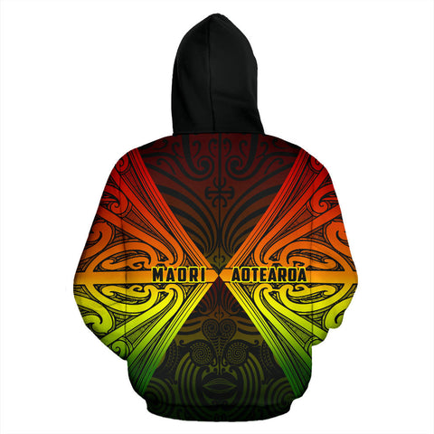 Image of Maori Aotearoa Tribal Roots Hoodie Rasta K4 - 1st New Zealand
