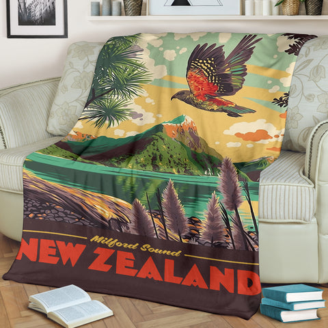 Image of New Zealand Poster Blanket K5 - 1st New Zealand