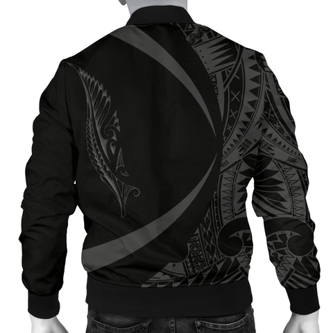 New Zealand Silver Fern Men's Bomber Jacket Maori Tattoo Circle Style J95 - 1st New Zealand