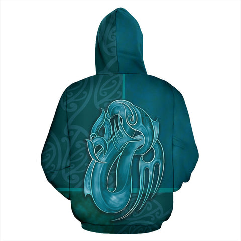 New Zealand Hoodie - Blue Sea Tangaroa K5