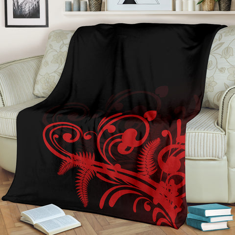 Image of Silver Fern New Zealand Blanket - Red