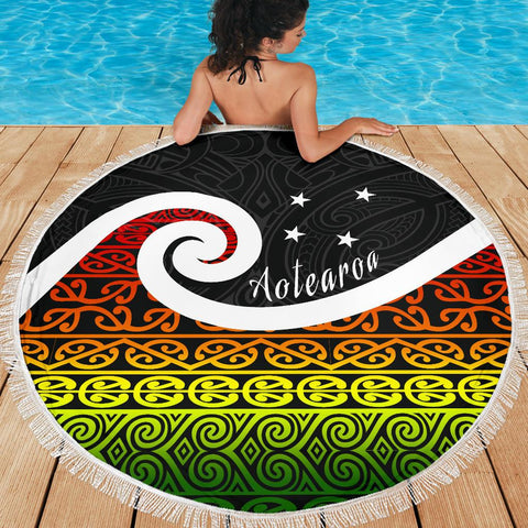 Beach Blanket NZ Koru Rastafari Color K4 - 1st New Zealand