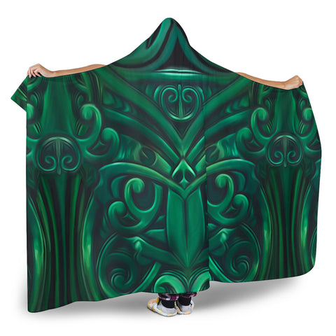 Image of New Zealand Warriors Hooded Blanket Green K4