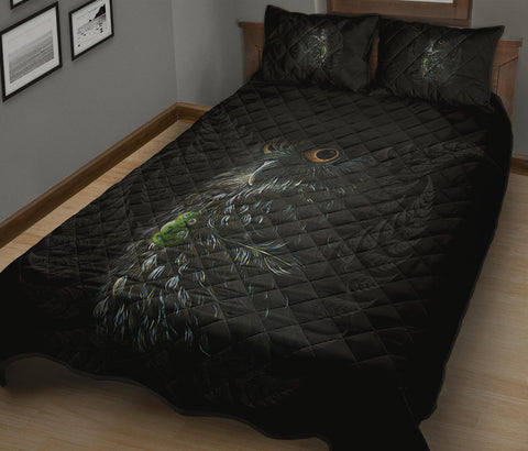 Maori Morepork Quilt Bed Set K5 - 1st New Zealand