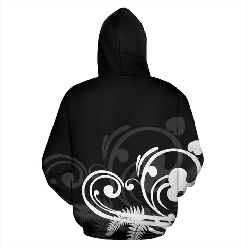 Image of Silver Fern New Zealand Hoodie - Black L15 - 1st New Zealand