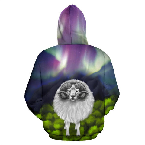 Image of New Zealand Sheep Hoodie Southern Lights K4 - 1st New Zealand