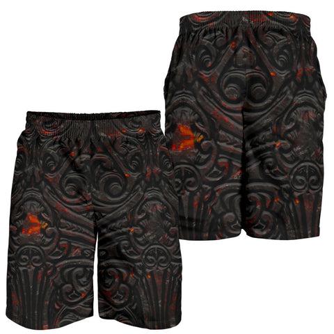 Image of New Zealand Warriors Men's Shorts Maori Tiki Vocalno Style Th00 - 1st New Zealand