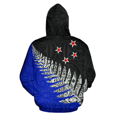 New Zealand Silver Fern™ Pullover Hoodie 02 K4 - 1st New Zealand