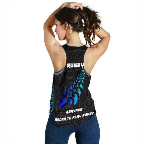 Image of New Zealand Maori Rugby Lion Tank Top - Women K5 - 1st New Zealand