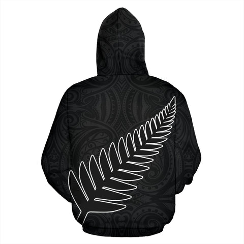 Silver Fern Rugby Zip Up Hoodie K4 - 1st New Zealand