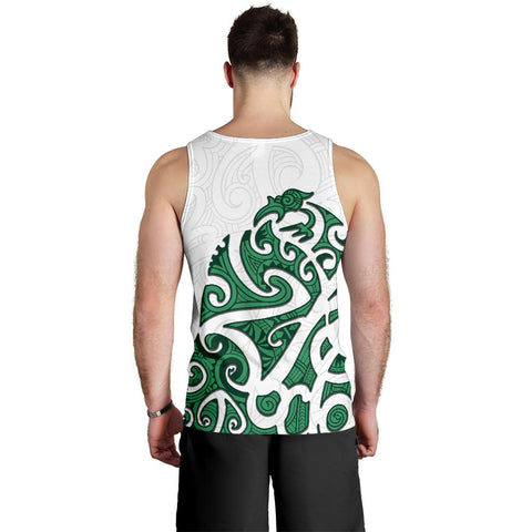 Maori Protection Tattoo Tank Tops For Men K4 - 1st New Zealand