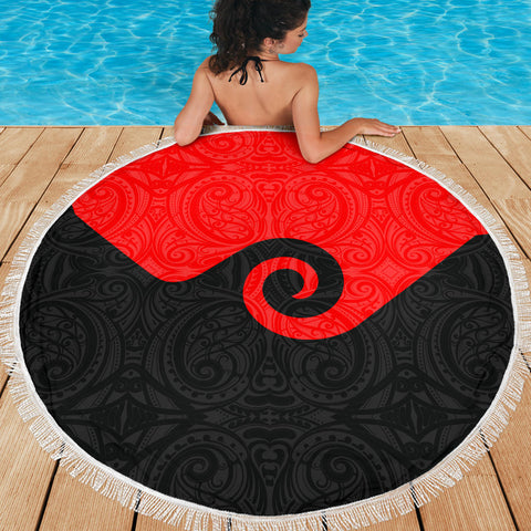 Image of Koru New Zealand Beach Blanket K4 Front 2