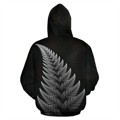 Image of New Zealand Hoodie Silver Fern Rugby Haka Face K4 - 1st New Zealand